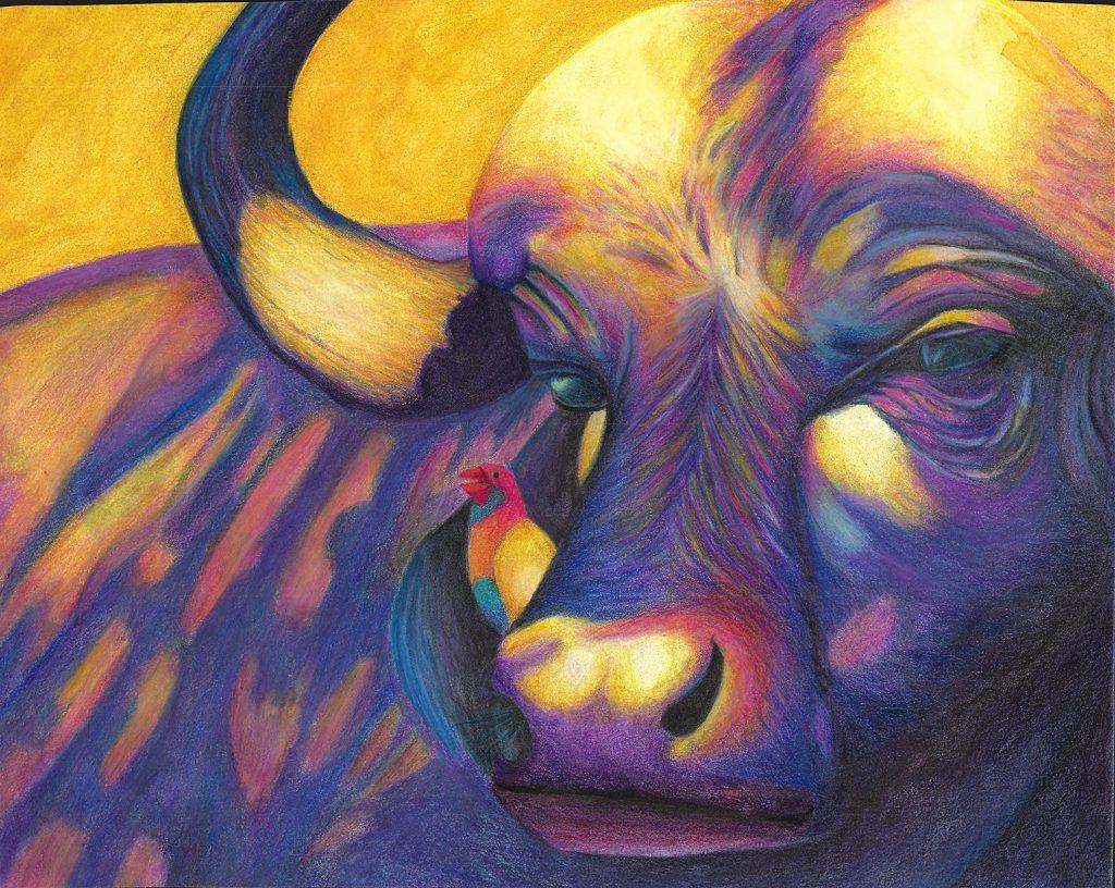 water buffalo painting