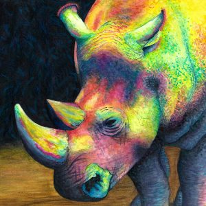 Rhinocorn painting