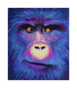 george the gorilla in pastels