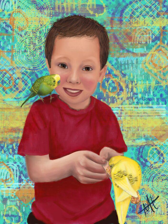 portrait painting procreate
