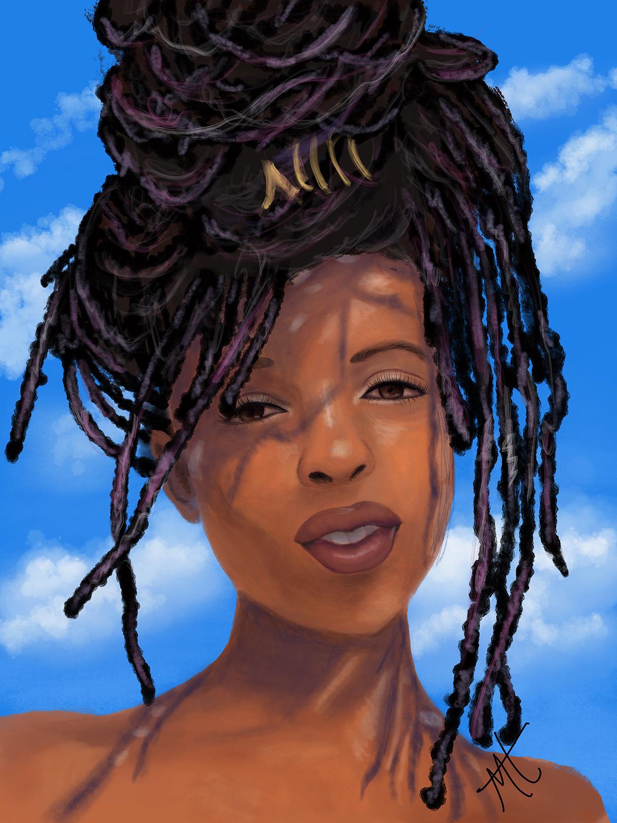 Digital portrait art